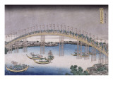 Le pont Tenma dans la province de Settsu