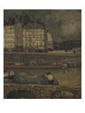 Le bras gauche de la Seine devant la place Dauphine