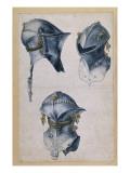 Trois études d'un casque