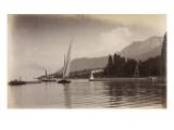 """Le bateau """"le Jura"""" entrant dans le port d'Evian"""