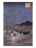 Les feux des renards à la veille de la Saint Sylvestre sous l'Arbre d'Ôji Giclée par Ando Hiroshige