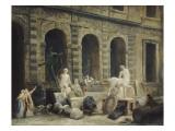 Le Dessinateur d'antiques devant la Petite galerie du Louvre