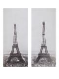 La construction de la Tour Eiffel vue de l'une des tours du palais du Trocadéro