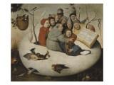 Le concert dans l'oeuf (Satire de l'alchimie symbolispar l'oeuf philosophique) Giclée par Jérôme Bosch