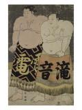 Les Sumô Takinoto Sogoro et Raiden Tame-emon