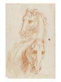Deux études de tête de cheval
