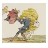 Le coup de vent  caricature