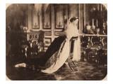 L'impératrice Eugénie agenouillée sur un prie-Dieu