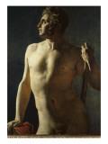 Torse ou demi-figure peinte