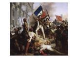 Le combat devant l'Hôtel de Ville  le 28 juillet 1830