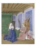 Le Livre d'Heures d'Etienne Chevalier : Les Heures de la Vierge  La seconde Annonciation