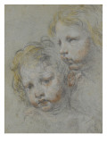 Deux t&#234;tes d&#39;enfants