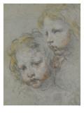 Deux têtes d'enfants