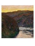 La Vallée de la Creuse  soleil couchant