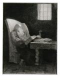 Le liseur : vieillard barbu assis