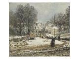 L'entrée de la Grande-Rue à Argenteuil  l'hiver