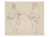 Deux études de musicien maure; mars 1830