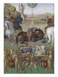Le Livre d'Heures d'Etienne Chevalier : Les Suffrages des Saints  Saint Paul sur le chemin de Damas