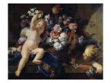 Deux enfants jouant avec des fleurs