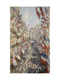 La Rue Montorgueil &#224; Paris f&#234;te du 30 juin 1878