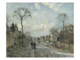 La route de Louveciennes Giclée par Camille Pissarro