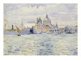 Venise  l'église de la Salute à l'entrée du Grand Canal