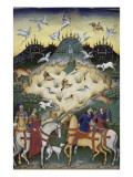 Traité de fauconnerie et de vénerie avec la devise et l'emblème du duc de Sforza
