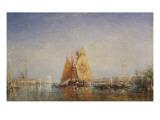 Venise  Trabacco à la voile jaune