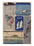 32ème vue : Araï ; 33ème vue : Shirasuka ; 34ème vue : Futakawa ; 35ème vue