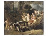 Enfants nobles (famille Trip) dans un char trainé par des chèvres (dit autrefois : les enfants de