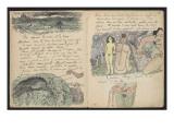 """Album Ancien culte Mahori : Sanglier et bord de mer ; """"Hiro dieu des voleurs"""" et ceinture rouge"""
