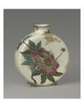 Vase tambourin à décor floral