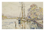 Vue de Bayonne  l'Adour avec un voilier  9 avril 1924
