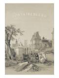 Frontispice d'un album de Denecourt : Porte du Baptistère  Statue d'Ulysse par Petitot  le