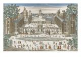 Vincennes château fort  le grand bassin du jardin des Tuileries à Paris