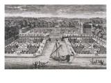 Diverses vues de Chantilly : vue et perspective du canal  des jardins et du château