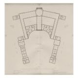 """Recueil """" Domaine de la Couronne """" - Palais de Versailles : Planche 23 : Plan de l'étage en"""