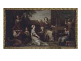 Vue intérieure grands appartements : Pénélope faisant de la tapisserie (1671-1680)