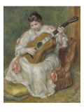 Femme jouant de la guitare