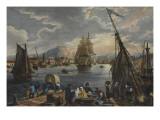 Vue de port de Cherbourg