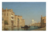 Venise  le Grand Canal  près de Santa Maria della Salute