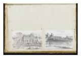 Album : Les jardins Farnèse vus du Forum ; la pyramide de Cestius et le mur Aurélien