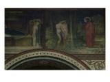 Adam et Eve chassés du Paradis  deuxième travée du côté gauche de la nef de l'église de