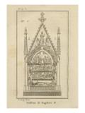 Musée des Monuments Français tome 1 par Alexandre Lenoir: planche 19bis: le tombeau de Dagobert à