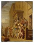 Saint Bruno et ses compagnons distribuent leurs biens aux pauvres Copie réduite avec variante du