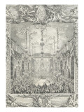 Décoration du bal paré donné par le roi le 24 février 1745  à l'occasion du mariage du dauphin