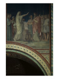 Le baiser de Judas et Joseph vendu par ses frères  cinquième travée du côté droit de la nef de