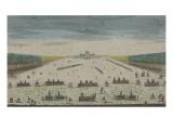Vue de l'Ecole Royale Militaire du côté du Champ de Mars à Paris