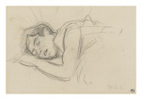 Woman Sleeping  Right Cheek Resting on the Left Hand