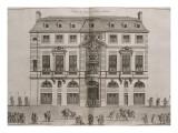 Figure XIV: vue de la façade de l'Hôtel de Beauvais rue Saint-Antoine au balcon duquel la
